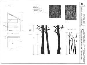 drawing plate 4: toomey's cabin unit 2 & trees