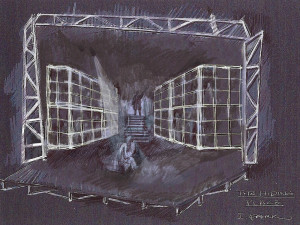 rendering, concentration camp